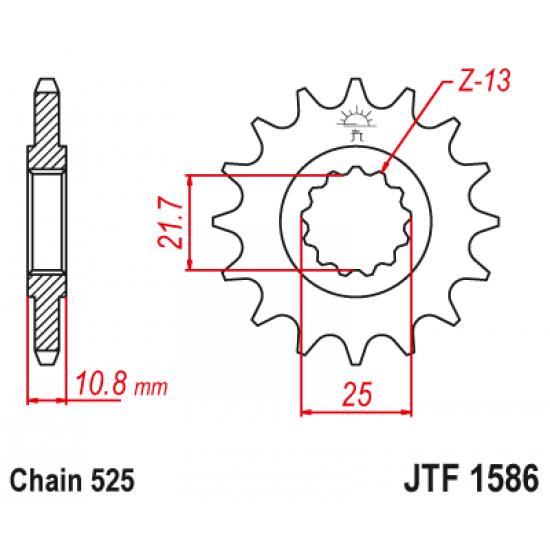 Pinion JT (fata) JTF1586  15 dinti - YZF-R6 '06-
