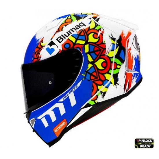 Casca integrala MT Revenge 2 Moto 3 A0 alb mat